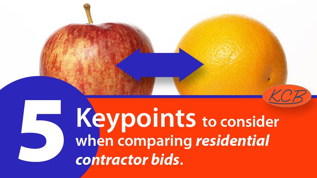 5 key points to consider when comparing residential contractor bids