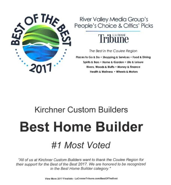 Best Home Builder | La Crosse Tribune